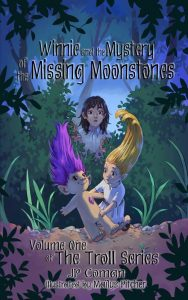 Cover for Winnie and the Mystery of the Missing Moonstones by JP Coman, illustrated by Maïlys Pitcher.