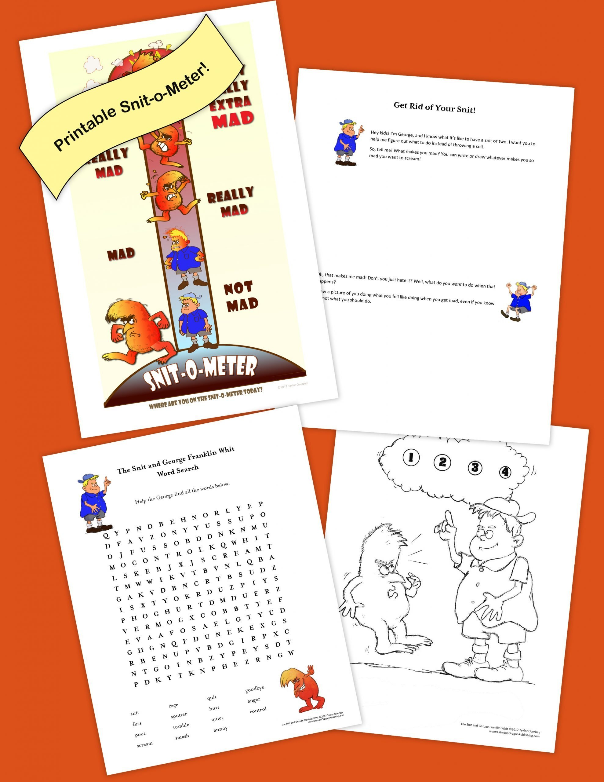 """The Snit and George Franklin Whit"" Activity Pack."