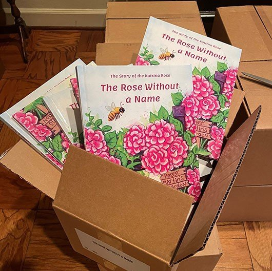 The Rose Without a Name, books in newly opened box.