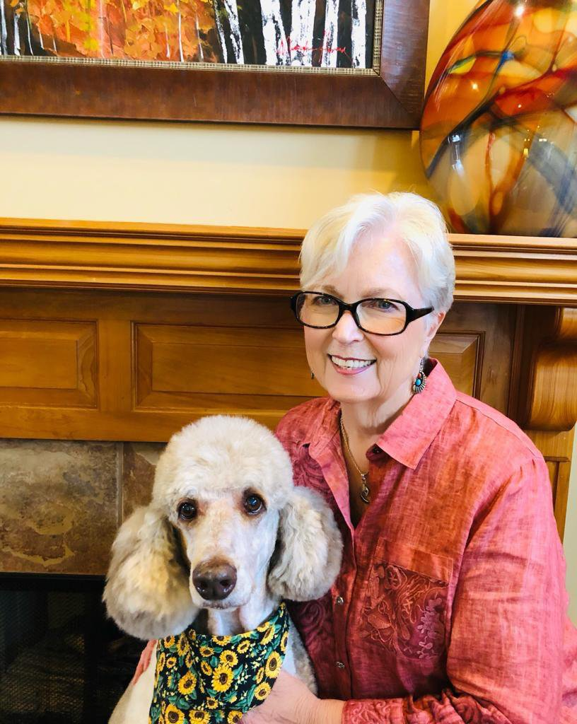 Nancy Rust with her dog, Truman